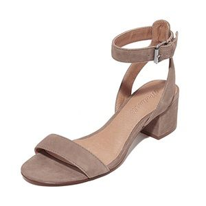 Madewell Alice Suede Block Heel Sandal